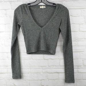 Wilfred Free - Green crop top sweater